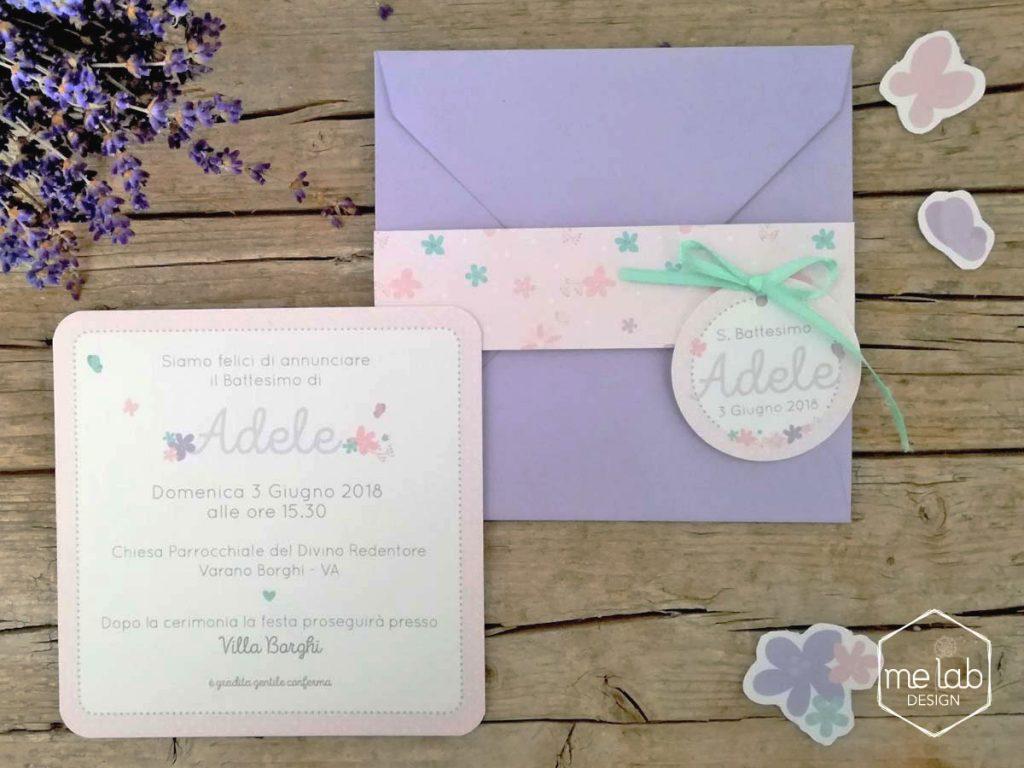melabdesign-invito-battesimo-floreale-bimba-fattoamano Creatività per eventi