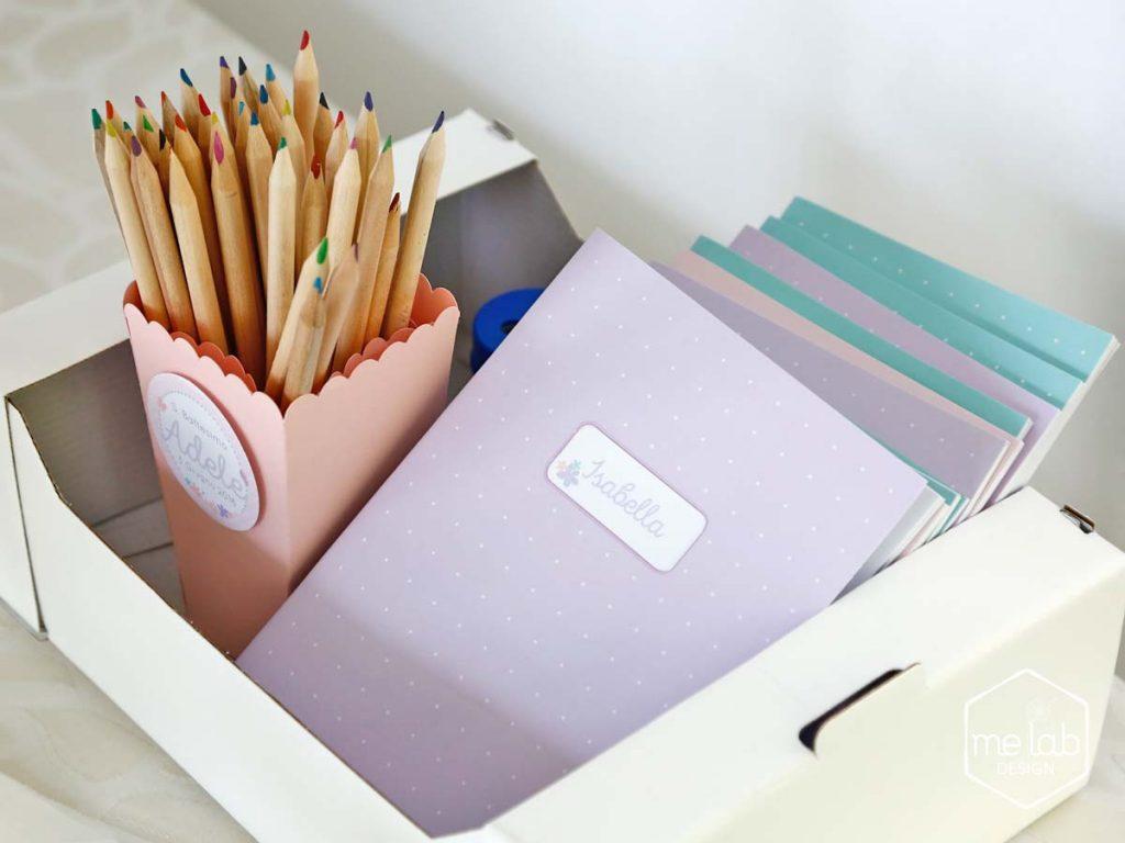 melabdesign-matite-quaderni-festa-bimbi-notes Creatività per eventi